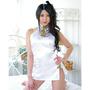 ホルターネックチャイナドレス ホワイト