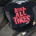 KILL ALL TIRE リミックスブラックレッド Tシャツ
