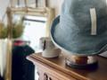 インディゴ染めのペーパーブレード帽 (wash blue)  マチュアーハ mature-ha.