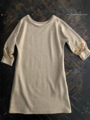 ラスト1点*ロウタス Raw+ FOUNDATION LACE SWITCHED SWEATSHIRT DRESS