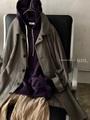 完売*Vlas Blomme Cotton/Linenのドルマンケープコート