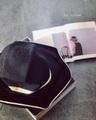 ラスト1点*BLACK&WHITE モノトーンのBOXED HAT 11cm brim  mature-ha.