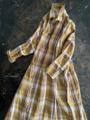 完売*ICHI Antiquites FarmersTartanCheckのロングシャツドレス
