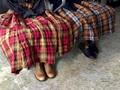 完売*ICHI Antiquites リネンクラシックタータンのスカート