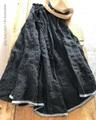 *完売*Vlas Blomme Vintage Noir ギャザースカート