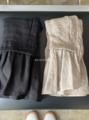 Vlas Blomme コルトレイクリネン×ワイルドシルクの裾切替えジレ