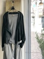 ラスト1点*Raw+ ロウタス  FRONT-DRAPE ZIP-UP CARDIGAN (13BLACK)