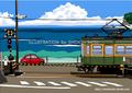 いつかの海岸線2 湘南イラスト版画作品