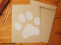 肉球好きさんのための角2封筒とシール(2枚増量で5枚セット)
