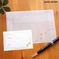 肉球好きさんのためのトレーシングペーパー封筒と宛名シール(5枚セット)