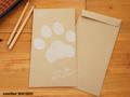 肉球好きさんのための長3封筒とシール(5枚セット)
