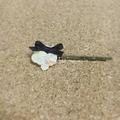 レース編みの小花ヘアピン02