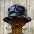 つまみ染 絣帽子