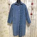 藍紬と島絣コラボ ロングコート