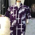 浴衣リメイク 紳士用アロハシャツ(扇柄)【値下中!】