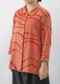 着物リメイク-正絹絞りの羽織ブラウス