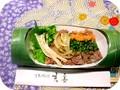 ミニステーキ丼 竹筒入り(紙型製)