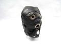 アイマスク・ディルドギャグ付き レザーフード ブラック /SHP9568401