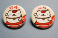 招福招き猫缶バッチ