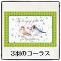 3羽のコーラスポストカード(CRM0022)
