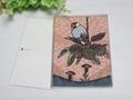 ポストカード「夕暮れの栗文鳥」(SAT0015)