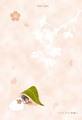 ポストカード「さくらサクラ桜文鳥」(TTP0004)
