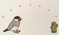 メッセージカードセット「文鳥と埴輪」