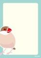 カラーメモシナモン文鳥