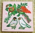 文鳥ファブリックパネル・正月(ピンク)桜/白(SAT2111)