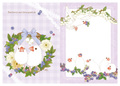 """A4クリアファイル""""Blueberry and Javasparrow""""(TTP0046)"""