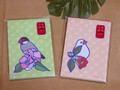 文鳥ポチ袋ー椿(SAT2006)