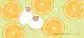 """チケットホルダー""""Orange and Javasparrow""""(TTP0047)"""