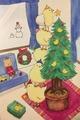 ポストカード「5わのひよこのクリスマス」