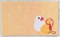 メッセージカードセット「白文鳥とひょうたん」