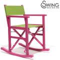 Swingdesign ロッキングチェアー 赤紫 [Porto Vejo]