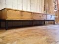 アイアンレッグとアンティークパインのTVボード,W170
