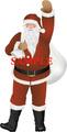 No282 クリスマス サンタクロースのイラスト