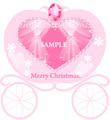 No395 クリスマス キラキラ かぼちゃの馬車 ピンク