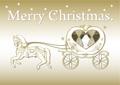 No406 クリスマス おしゃれな馬車(Merry Christmas.ロゴ入り)
