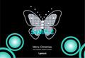 No429 クリスマス キラキラ 蝶 ダイヤモンド グリーン 【AI】