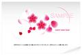 No482 年賀状 おしゃれ(テンプレート) 花 blossom