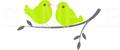 No.568 小鳥 グリーン