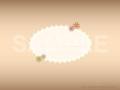 No.587 小花のタイトルマーク ブラウン