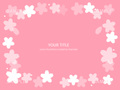 No1103 桜の飾り枠 白 【AI】