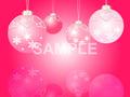 No.831 クリスマス イラスト 濃いピンク