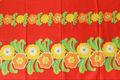 スウェーデンで見つけた赤×お花柄のレトロファブリック(175×90cm)