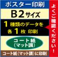 【B2サイズ】コート紙(マット調)1枚