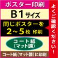 【B1サイズ】コート紙(マット調)2~5枚