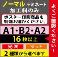 【A2/B2/A1】ノーマルラミネート 16枚以上