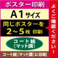 【A1サイズ】コート紙(マット調)2~5枚
